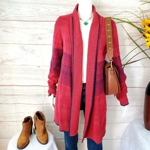 Cabi cotton blend perfect fall open front cardigan
